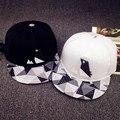 Minhui Новая Мода Черный Белый Плед Шляпы для Мужчин и Женщин Хип-Хоп Cap Bone Gorras Повернет Вспять Бейсболки