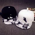 Minhui New Fashion Black White Plaid Hats for Men and Women Hip Hop Cap Bone Gorras Snap Back Baseball Caps