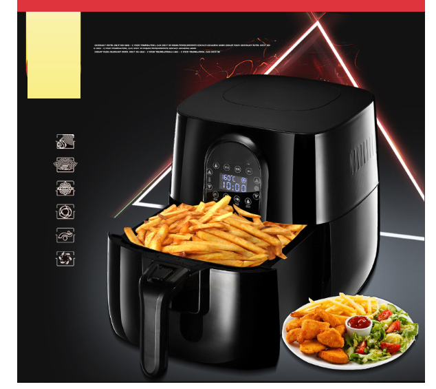 3.2L Air Fryer   Automatic  chicken fish baker household  chips nuggets mozzarella stick maker Oven NO smoke Oil 3.2L Air Fryer   Automatic  chicken fish baker household  chips nuggets mozzarella stick maker Oven NO smoke Oil