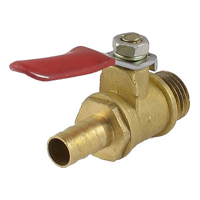 1/4 PT Male Thread to 8mm Hose Barb Red Lever Gas Fuel Brass Ball Valve 8mm hose barb x 1 8 bspt male connection air brass ball valve water gas