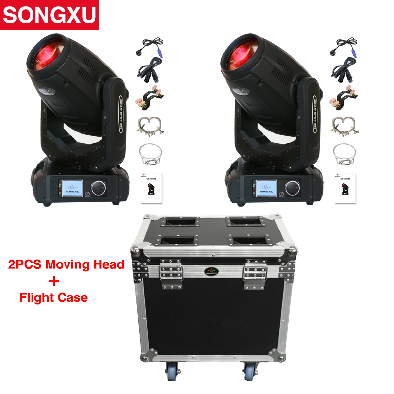 Flight case 2IN1 2pcs 280W 10r Beam Spot Wash 3in1 Moving Head Light Beam 280 10r
