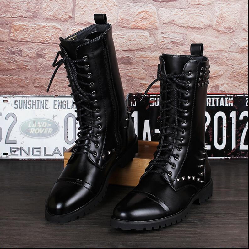 Online Get Cheap Tall Black Boots for Men -Aliexpress.com ...