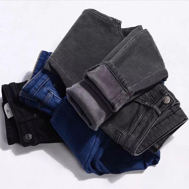 High Waist Warm Jeans For Women Blue Female Black Winter Jeans Women Denim Pants Jean Femme 2018 Ladies Trousers Warm Pants 6