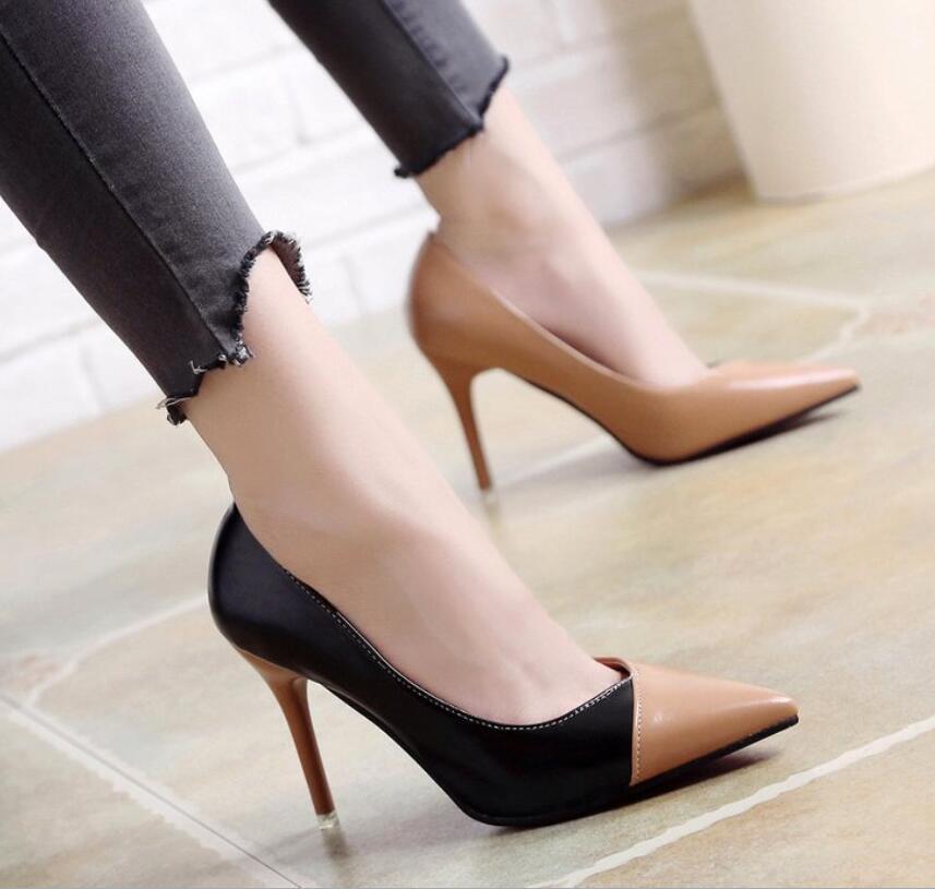 2a62a6c27502dd a3 Cuir Ol Simples Sort Printemps Couleur 2019 Femelle Talons Haute Femme  a2 De D'été Verni A1 Parti Mode Pompes Mariage Chaussures ...