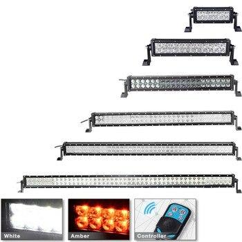 "Remote Control 36w 72w 120w 180w 240w 300w Straight LED Light Bar 4x4 Offroad Led Bar Combo Beam 12v 24v Led Work Light Bar 22"""