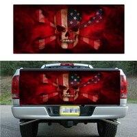 167X58 cm Truck Tailgate wrap Vinyl Graphics Decal Sticker lame Skull pattern Truck 1pcs