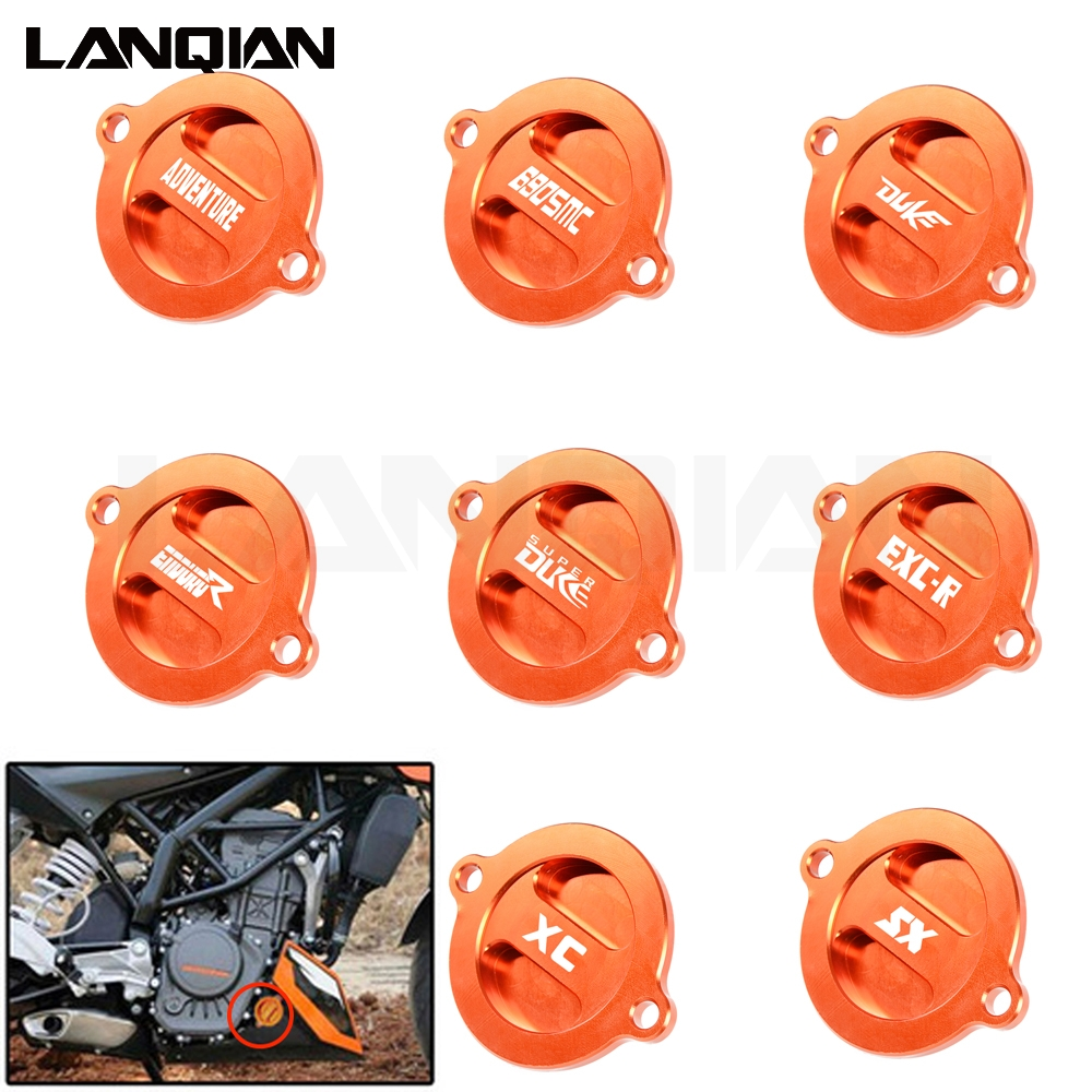 Motorcycle Engine Oil Filter Cover Cap For <font><b>KTM</b></font> 1090 1190 1290 990 SUPER ADVENTURE GT Superduke RC8 R <font><b>RC</b></font> DUKE <font><b>125</b></font> 200 250 390 690 image