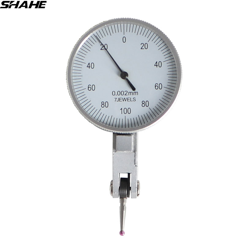 0-0.2 mm Lever  Precision 0.002 mm dial test indicators Lever gauge dial gauge indicator with red  jewel