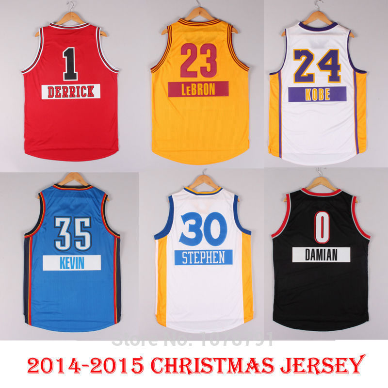 buy online eed24 a91b8 2014 2015 Christmas Basketball First Name Jersey Derrick ...