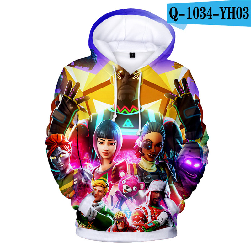 Fortniter Battle Royale Hoodie Hooded Children Clothing Fortnight Pullover Women Clothes Kids Game Clothings Popular Clothes