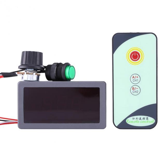 PWM מנוע DC מהירות רגולטור 6V 12V 24V מנוע מהירות בקר תצוגה דיגיטלית עם IR מרחוק בקר