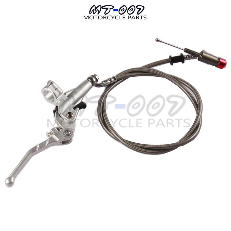 1200MM 200CC Dirt Bike Aluminum Hydraulic Clutch Lever Master Cylinder For Pit Dirt Bike ATV 150 250 SSR KLX SDG CRF TTR cnc foot brake pedal tip lever step plate tip replacement for crf50 xr50 ssr sdg tao tao dirt pit bike motorcycle free shipping
