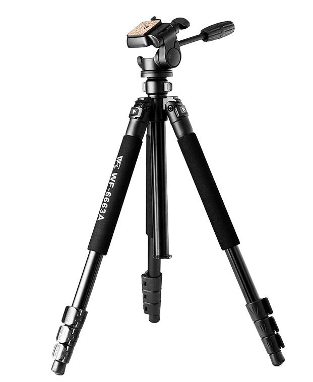 WEIFENG-6663 Professional Camera Tripod Flexible Tripod for Digital DSLR SLR Camera Nikon Canon Sony Fuji Pentax