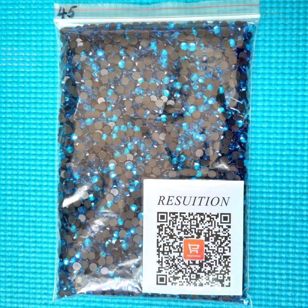 Big bag DMC Hotfix Rhinestone Lake blue Hotfix Rhinestones for clothes nail  art glitter accessaries 597178d3d09b
