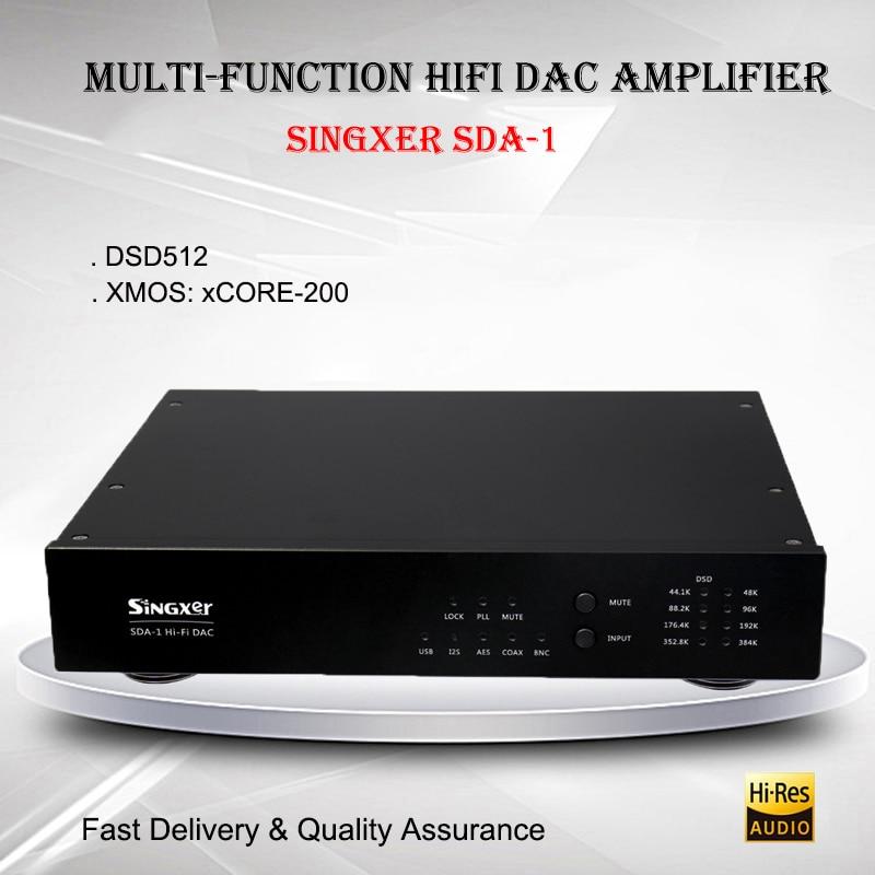Singxer SDA-1 Audio USB DAC XMOS AK4118 HIFI Desktop Audio Decoder Amplifier Portable Professional Amplificador DSD Digital AMP цены