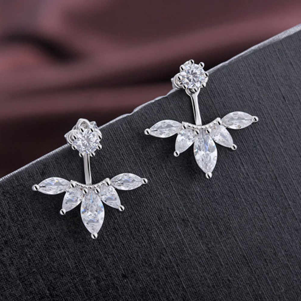 2019 Fashion Ear Elegant Stud New 2 4cm sale Rhinestone Flower New 9inch Women Casual  hot Crystal Earrings free shipping 3.8