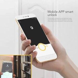 Image 2 - Sherlock serrure de porte intelligente Bluetooth, empreinte digitale et mot de passe, sans clé, serrure électronique intégrée Bluetooth, application pour téléphone