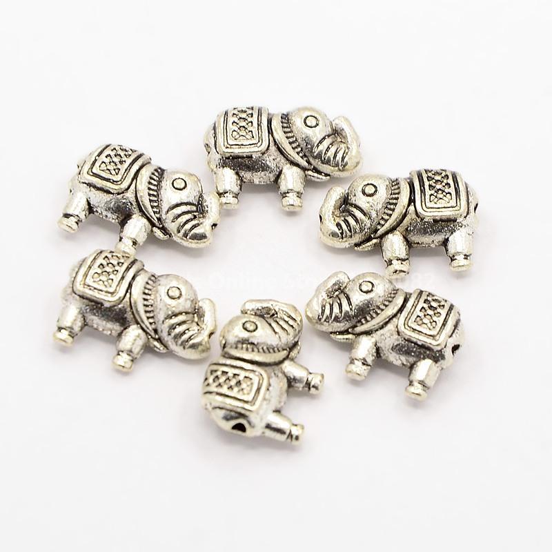 6103fb597071 Resultados de la joyería DIY estilo tibetano aleación elefante Cuentas