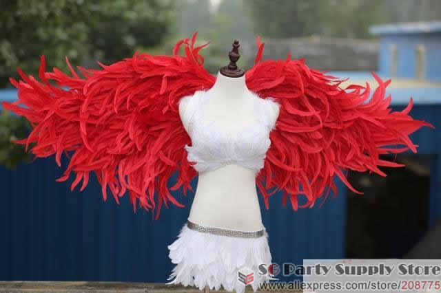 Wedding Angels Decorating Ltd: Costumed Beautiful Red Angel Feather Wings For Wedding