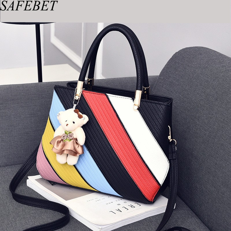 SAFEBET Brand 2017 Luxury Handbag Female Bags Designer Fashion High Quality PU Crossbody bag Women Messenger bags Shoulder bag crossbody bag handbag 2018 new brand designer messenger bags genuine leather women s female fashion woman chains bag shoulder