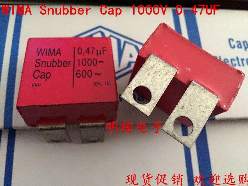2019 Offre Spéciale 10 pcs/20 pcs Allemagne WIMA Snubber Cap 1000 V 0.47 UF 470nf 1000 V 474 de fer feuille Audio condensateur livraison gratuite