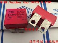 2019 hot sale 4pcs/10pcs Germany WIMA Snubber Cap 1000V 0.47UF 470nf 1000V 474 iron sheet Audio capacitor free shipping 50pcs cbb capacitor 630v 474 470nf 0 47uf pitch 20mm