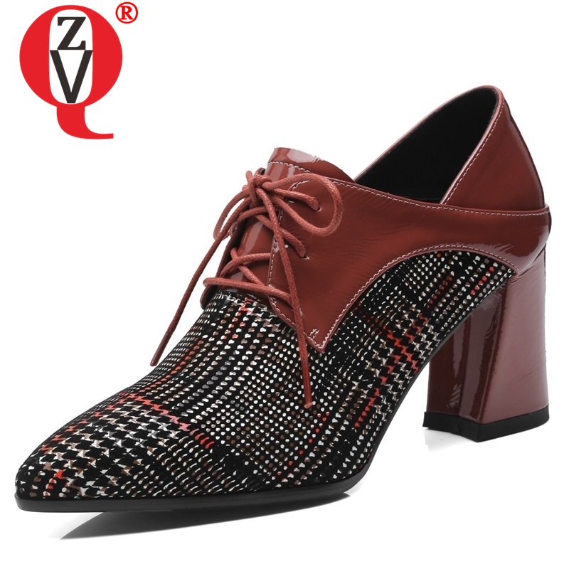 ZVQ hot sale shoes women spring new fashion sexy pointed toe genuine leather work women pumps cross-tied super high heels shoesZVQ hot sale shoes women spring new fashion sexy pointed toe genuine leather work women pumps cross-tied super high heels shoes