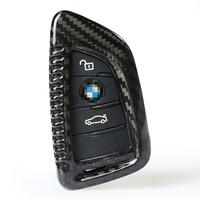 QHCP Carbon Fiber Key Case Shell For BMW 2 5 7 F45 G01 G30 G38 G11 G12 X1 F48 X2 F39 X5 M F15 F85 X6 F16 M Sport M5 F90 6 Series