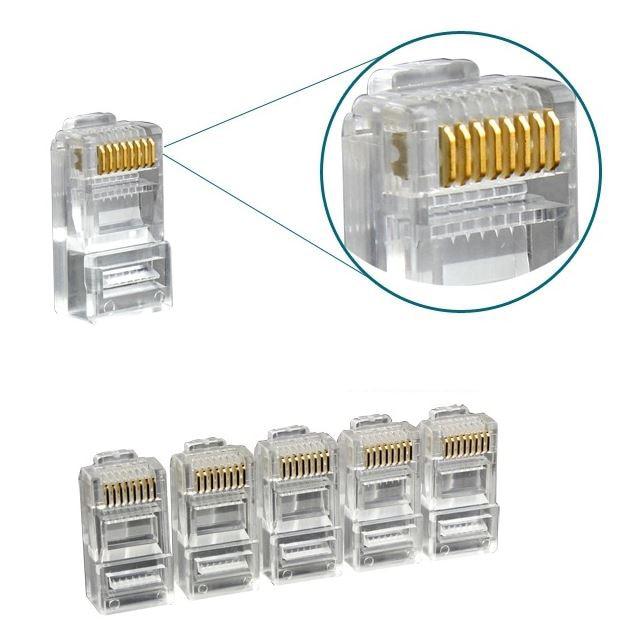 Fine 100Pcs Rj45 Rj 45 Ethernet Cables Module Plug Network Connector For Wiring 101 Relewellnesstrialsorg
