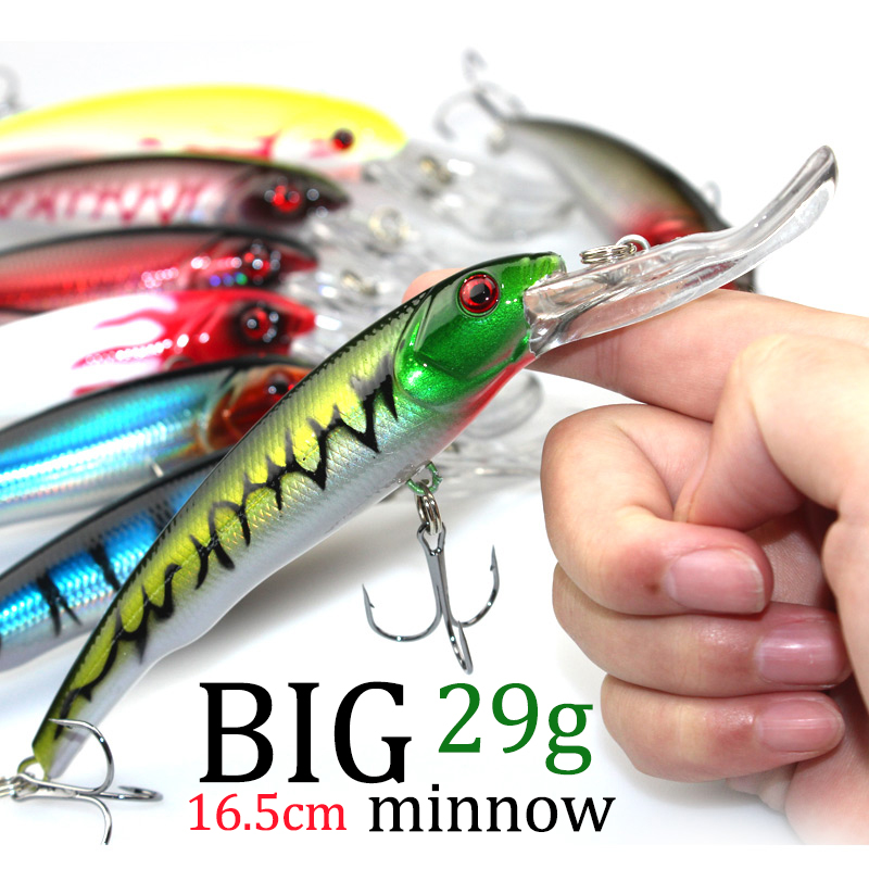 3D Eyes Plastic Crank Bait Swimbait 30g 16.5cm Minnow Fishing Lures Japan Deepswim Saltwater Hard Bait Sinking Wobbler #C0 sea bass minnow fishing lures japan deepswim saltwater hard bait 11cm 17g artificial baits minnow fishing wobbler 5colors