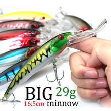 3D Eyes Plastic Crank Bait Swimbait 30g 16.5cm Minnow Fishing Lures Japan Deepswim Saltwater Hard Bait Sinking Wobbler #E3