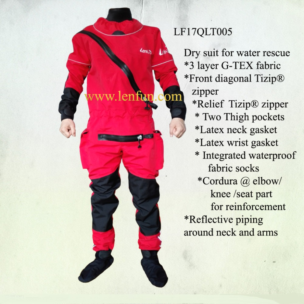 2017 UNISEX dry suit latex neck wrist attached socks for water recue whitewater kayak rafting kateboarding