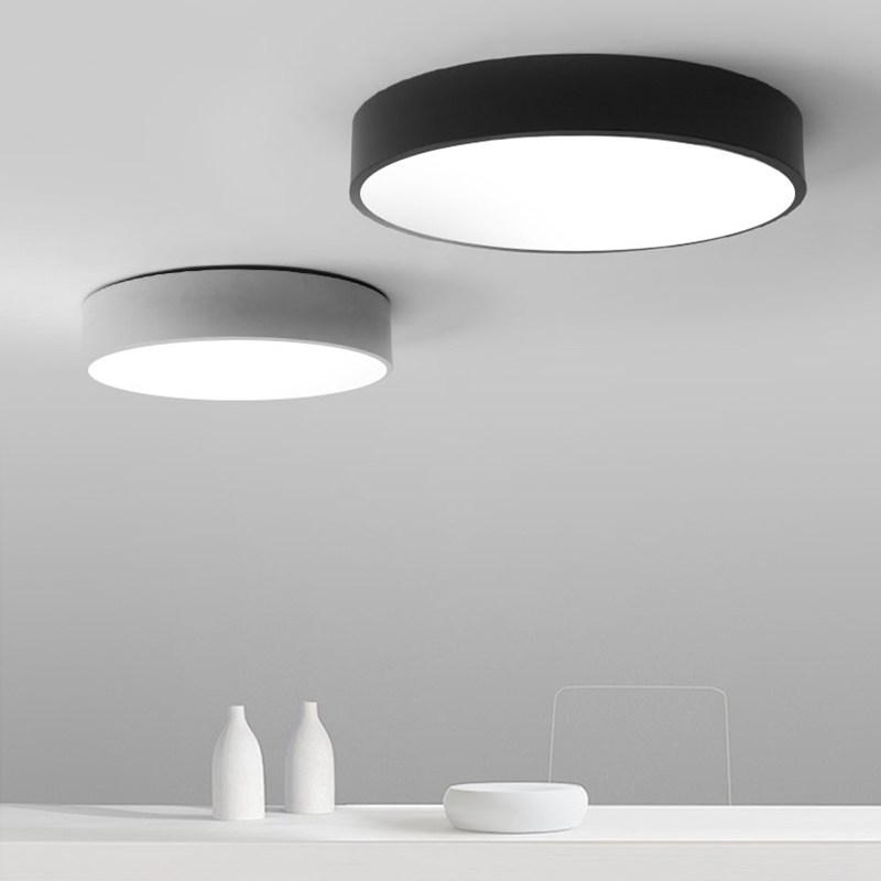 Modern minimalism led ceiling light round indoor led light ceiling lamp creative personality study dining room balcony lamp in ceiling lights from lights