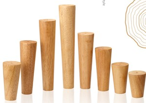 Image 2 - Meubles en bois de chêne massif, pieds de Table basse, canapé lit avec plaques métalliques, meuble, multi taille B518, 4 pièces/lot