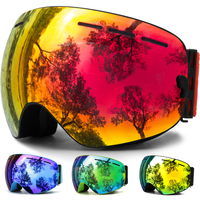 JULI Ski Goggles Winter Snow Sports Snowboard Goggles With Anti Fog UV Protection Interchangeable Spherical Dual