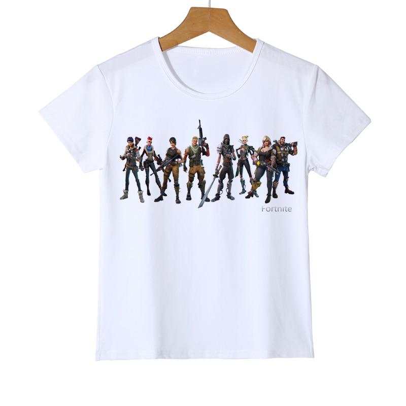 Nové přílety Kreslené hry Kid trička Fortnite 3D Print Boys   Girls ... 3722ca6d9bf