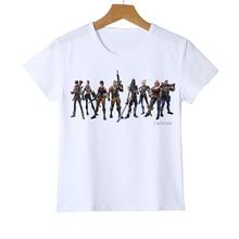 New Arrivals Cartoon Games Kid T-shirts Fortnite 3d Print Jongens / Meisjes T-shirts Mode Custom Graphic Tees Tiener Tshirt Y9-1