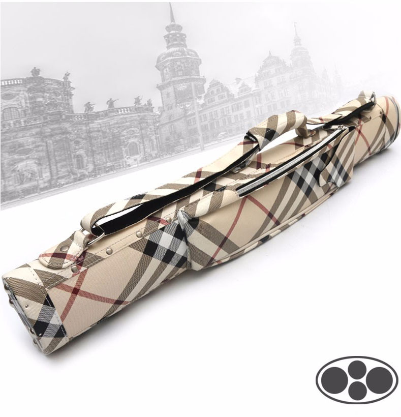 2018 New Arrival Cuppa Gorgeousness British Style Bilhar Pool Cue Case 4 Holes Billiard Accessories Made In China 2016 new high capacity 10 holes oxford cloth 1 2 billiard pool cue case billiards accessories black blue red colors china
