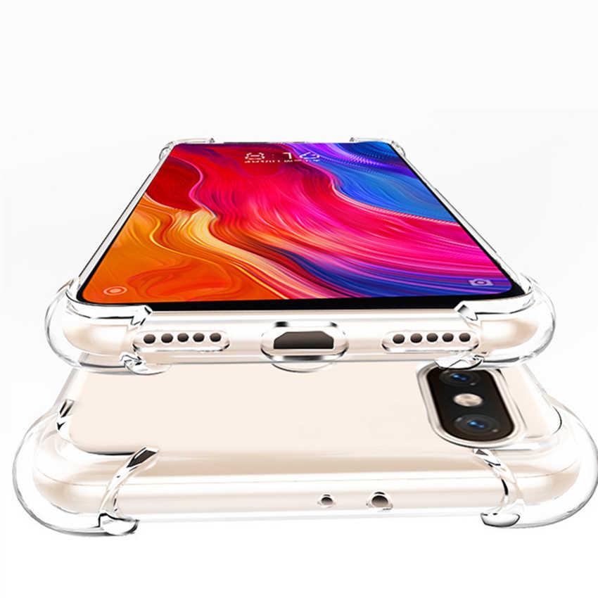 ل Xiaomi Pocophone F1 الترا سليم كريستال واضح Pocophone F1 لينة غلاف واقي مضاد للصدمات جراب هاتف شاومي Pocophone F1 غطاء من السيليكون