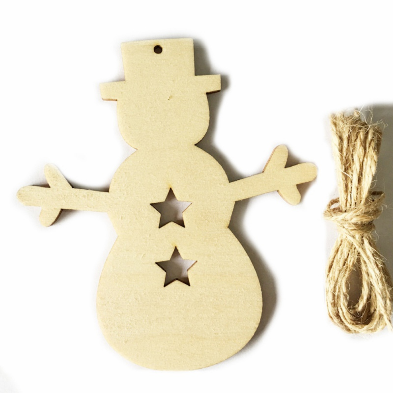 10pcs Merry Christmas Tree Hanging Ornaments Decoration Party Supplies Christmas Party Home Decor Diy Scrapbook Craft Decoratio