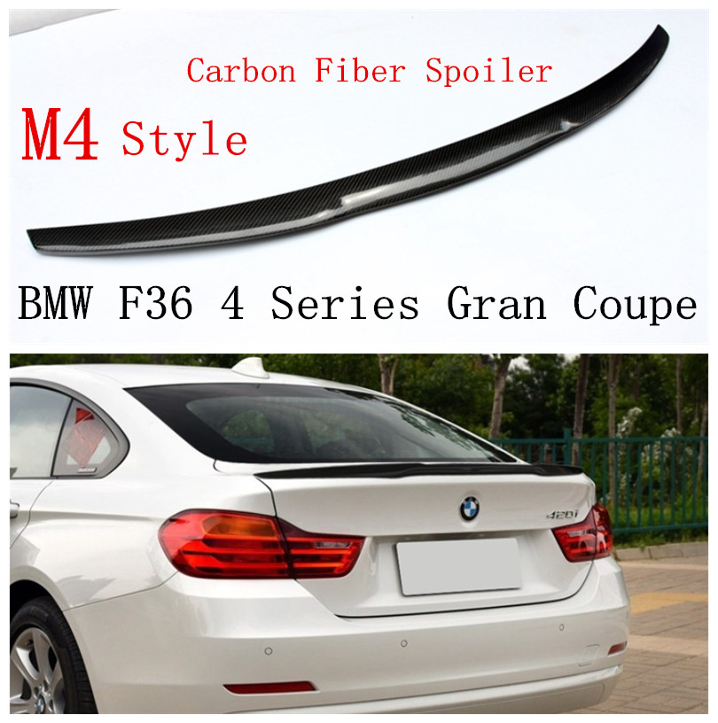 Carbon Fiber Spoiler For BMW F36 4 Series Gran Coupe 420 428 430 435 2013 2018 Rear Wing Spoilers High Quality Car Accessories