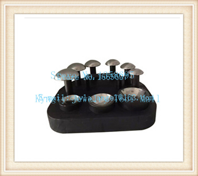 Купить с кэшбэком diy jewelry making Jewelry Making Tools Doming Block Dapping Punch Set 6pcs