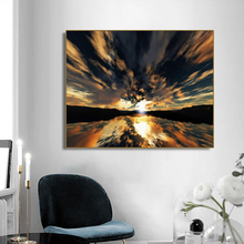 Light and Shadow Cloudy Scenery Decor Canvas Painting Calligraphy Picture For Living Room Bedroom Home Wall Art No Frame