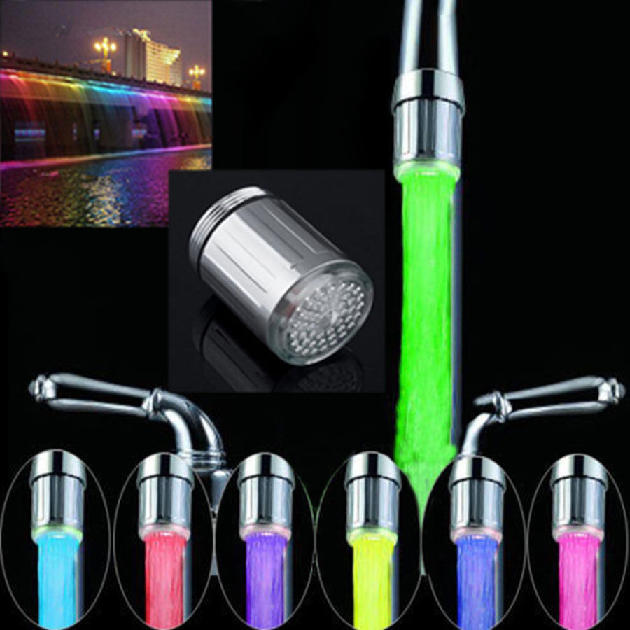 Hight Quality LED Water Faucet Stream Faucet Light Automatic 7 Colors Changing Shower Spout Sink Tap ...
