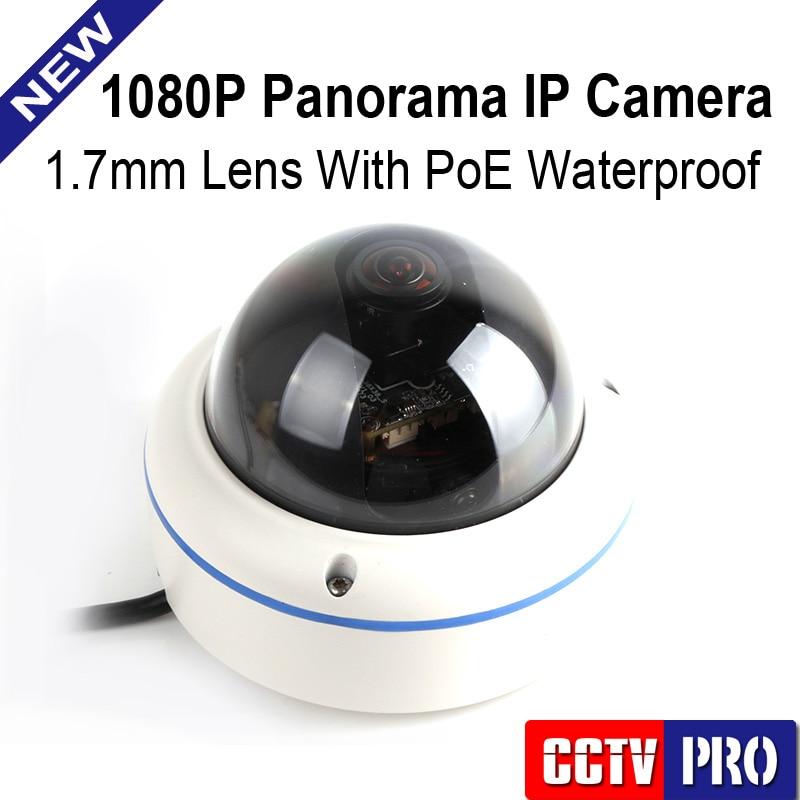 imágenes para 2.0MP 1080 P POE CCTV Cámara IP Al Aire Libre Con 180/360 Grados de Panorama Completo Vista Cámaras Fisheye Onvif P2P Nube vista