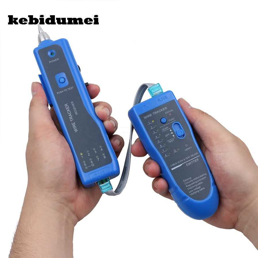 kebidumei rj11 rj45 cat5 cat6 telephone wire tracker tracer toner ethernet lan network cable tester detector [ 898 x 898 Pixel ]