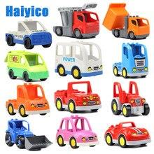 Veículo grande blocos de construção caminhões acessórios tijolos compatíveis modelo do carro ambulância bulldozer educação brinquedos para crianças presente