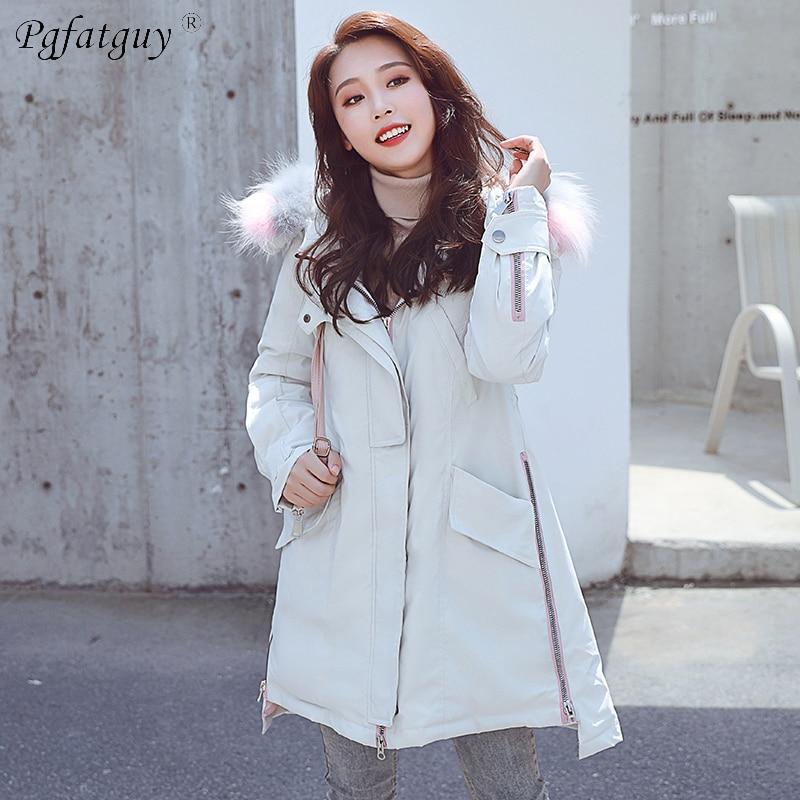 Vers Le Usure Dame Vestes Épaisse blanc 2018 D'hiver Manteau Faux Parkas Fourrure rose Veste Vêtements Nouveau Femme Neige Bas De Femmes gris Noir IXXUSwZ7