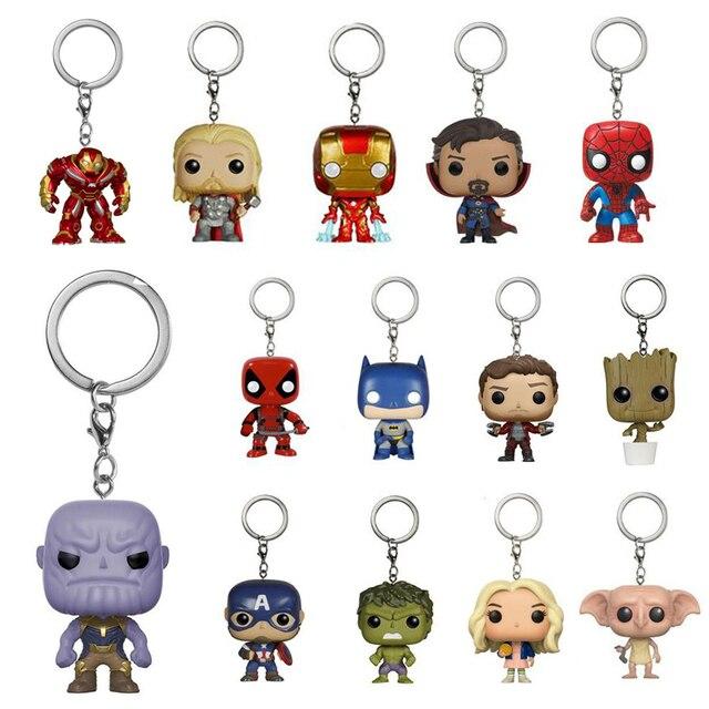 Infinito Guerra Figuras de Ação da marvel Thanos Hulkbuster homem De Ferro Chaveiro Brinquedos Deadpool Capitão América Thor Odinson Doutor Estranho