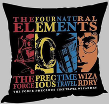 Harry Potter Doctor Who Zippered Twin Side Print Throw Pillowcase Cover
